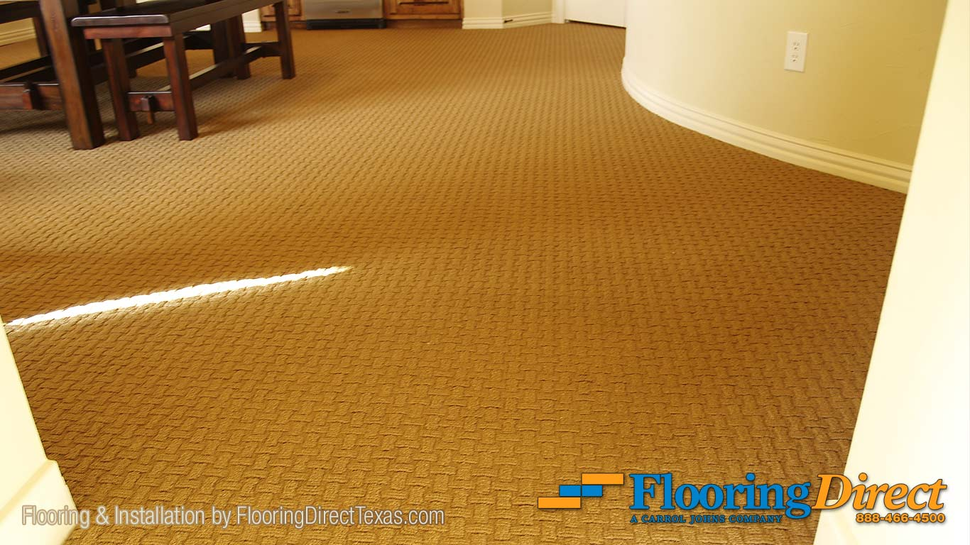 """This Carpet Flooring by Shaw is in a pattern called """"Know it All"""" in the color of Acorn."""