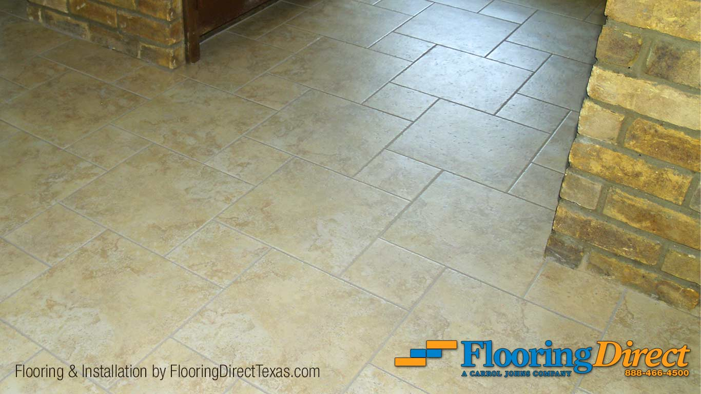 Tile flooring install in plano texas flooring direct for Direct flooring