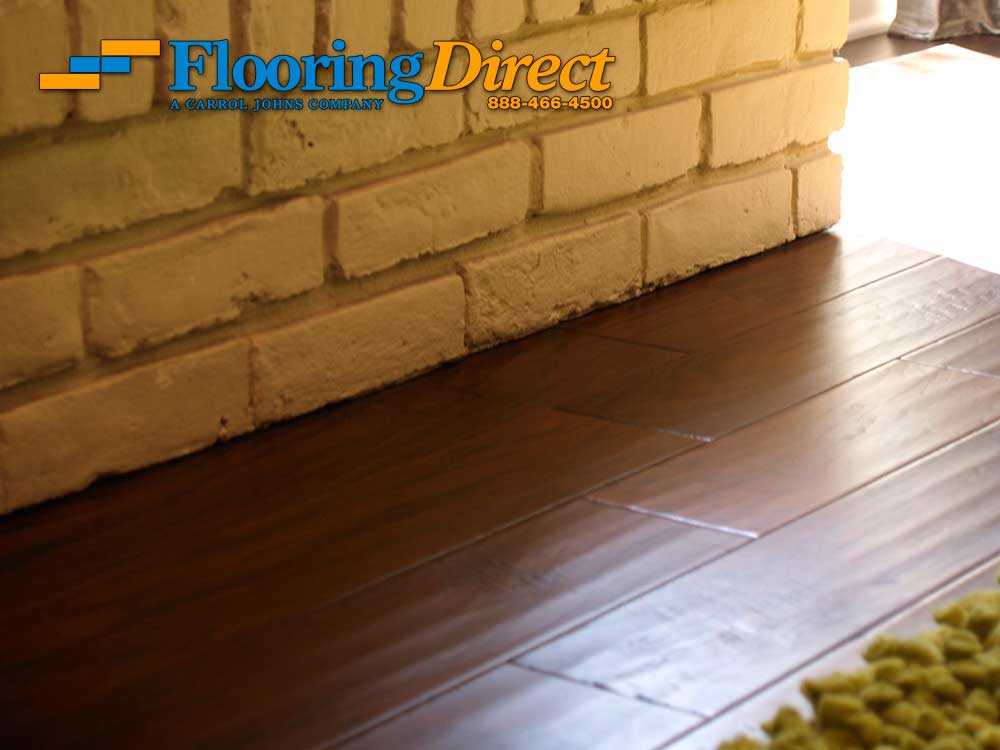 Hardwood Flooring Installation Cut Under Fireplace In Dallas Texas