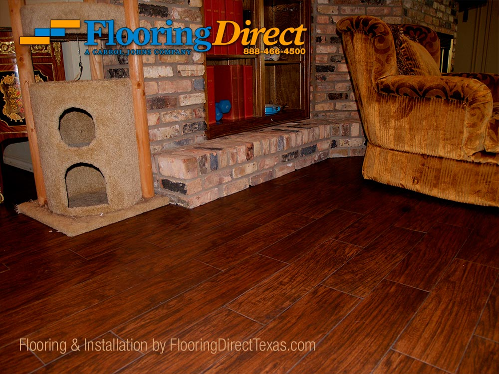 Wood-look Tile is Pet and Fireplace Safe