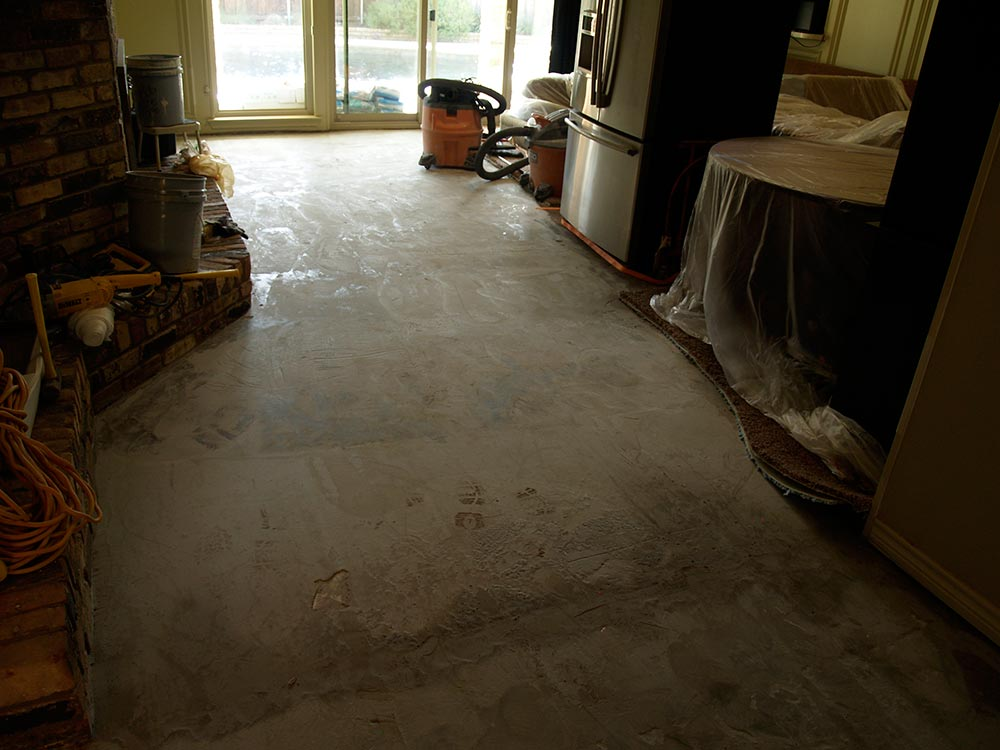During Wood-look Tile Installation