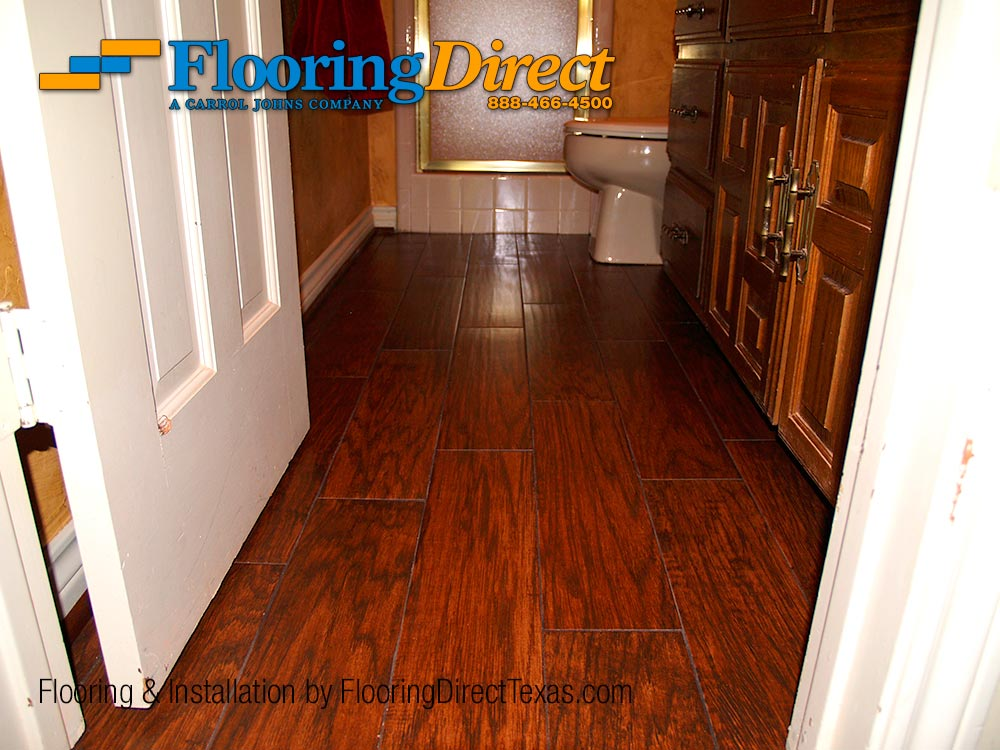 Wood-look Tile Safe for the Bathroom, Installed by Flooring Direct