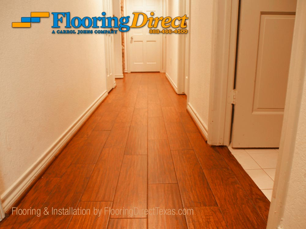 Wood-look Tile Installed in Arlington Residence by Flooring Direct