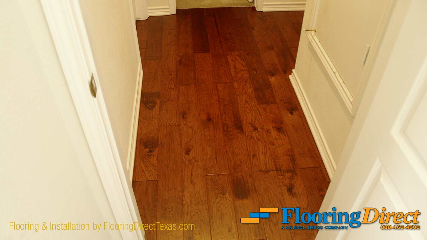Hardwood Flooring Install by Flooring Direct in Dallas Texas