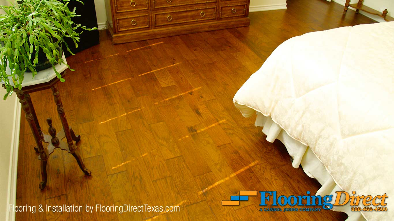 Hardwood Flooring Install in Master Bedroom by Flooring Direct